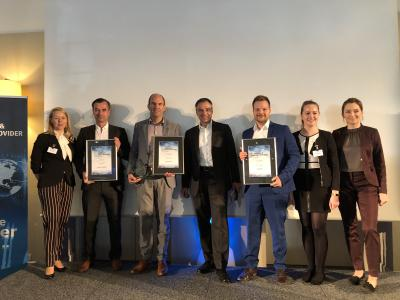 Arvato Systems is one of the winners in the Managed Services category at the Hosting & Service Provider Summit (Copyright: Vogel IT-Medien)
