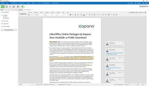 Kopano-LibreOffice Online Integration