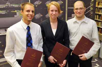 Die Hansepreisträger 2009 (v.l.n.r.): Marcel Kutzschke, Heike Tenne und Mathias Salbeck