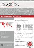 Zertifikat GoBD Konformitaet