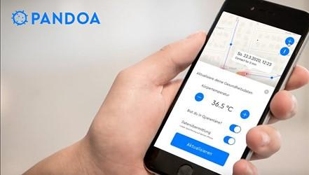 Screenshot Padoa Virus Tracker App