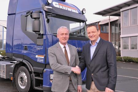 Eine gute Zusammenarbeit: Klaus Beckonert, Geschäftsführer der GREIWING logistics for you GmbH und Carsten Holtrup, Geschäftsführer von Trimble-Deutschland.