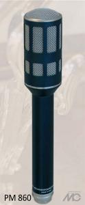 PM 860, the predecessor of the M 900/M910  The huge increase in demand from the Soviet market in the 80s led to an increased interest in cooperation, especially in the development of new microphone capsules. This led to the development of a new condenser mic, the PM 860, the predecessor of the M 900/M910.