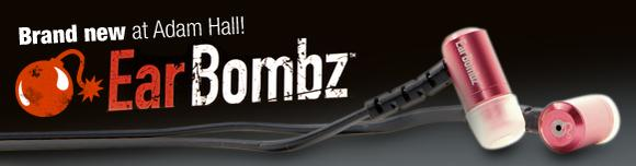 "Adam Hall GmbH is now European distributor of the ""EarBombz(TM) "" headphones"