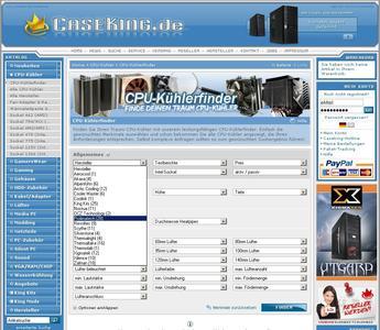 Caseking CPU Kühlerfinder