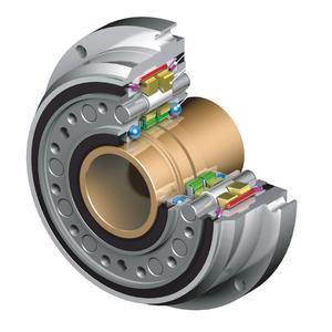 Präzisionsgetriebe F2C-C mit Hohlwelle zur Durchführung von Kabeln oder Medien, Schnitt, Bild: Sumitomo (SHI) Cyclo Drive Germany GmbH