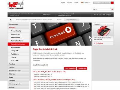 Bauteilebibliotheken von Würth Elektronik eiSos mit komfortabler Suchfunktion / Bildquelle: Würth Elektronik eiSos