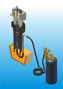 SOS-P works with any gases which are available  at the casting platform.