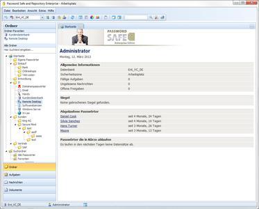 Password Safe and Repository Enterprise Edition - Startseite