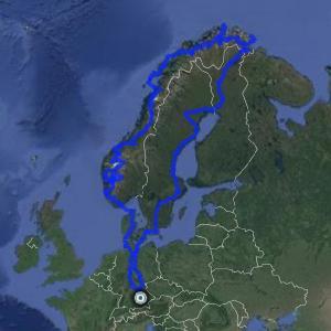 Reise-Route von Eike Eschenlohr