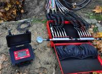 Dichtheitsprüfung an Kabelschutzrohren nach ZTV TKNetz40 mit Druckmesskoffer smart memo.