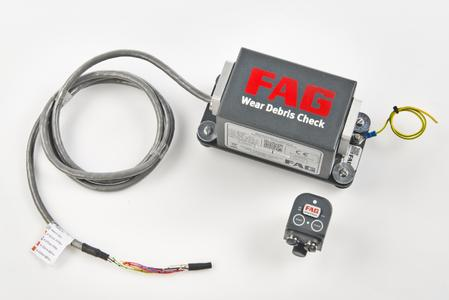 Combining the FAG Wear Debris Check with a vibration sensor like the FAG SmartCheck makes it possible to monitor machines and equipment even more comprehensively (Image: Schaeffler)