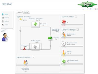 Simple software enables operators to monitor and control the system.
