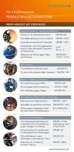 Prüfung und Zertifizierung von Chemikalienschutzkleidung