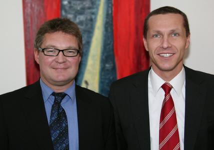 Peter Stanjeck und Roland Schuch, die neuen Prokuristen der USU AG