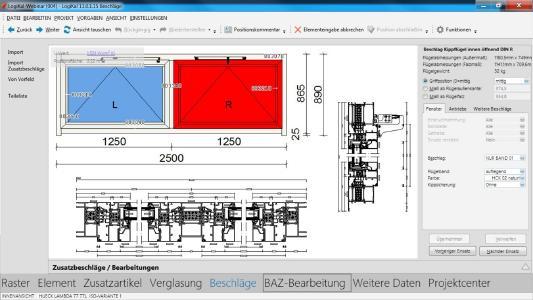 Mit dem Datenpaket von Aumüller Aumatic in Logikal lassen sich Fenster, Türen und Fassaden zeitsparend planen, kalkulieren und produzieren.