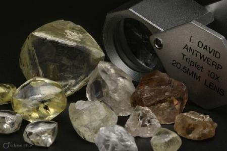 Diamanten von der Mothae-Mine; Foto: Lucapa Diamond