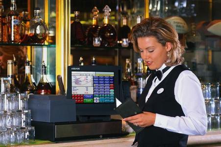 waitress in bar