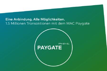 1.5 Millionen Transaktionen mit dem MAC Paygate