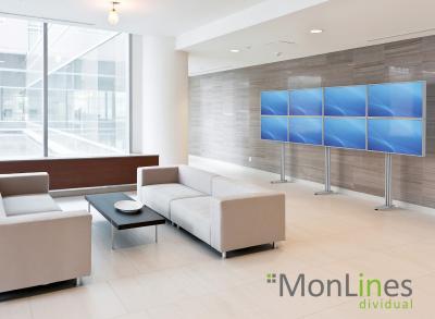 MonLines Videowall für 8 Monitore