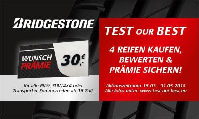 "Start der großen Kundenaktion ""TEST OUR BEST"""