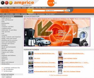 Jetzt auch ohne Internetanschluß Auktionen bei amprice.de einstellen