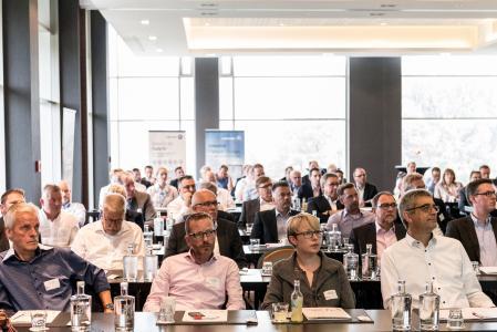 Beim zweiten Innovationstag der LogCoop GmbH am 6. Februar 2018 in Düsseldorf können die Teilnehmer geballtes Wissen über das Thema Transportlogistik sammeln. (Foto: LogCoop)