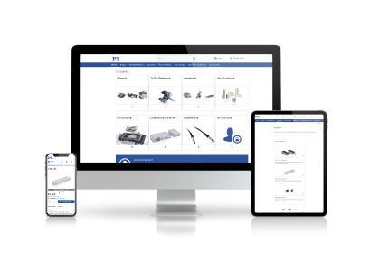 Homepage des Webshops von Physik Instrumente (PI)