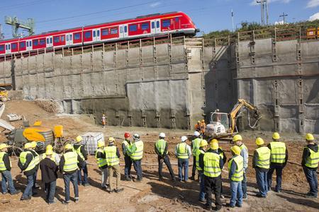 Besuch der Baustelle Stuttgart21 - Spritzbeton mit P 715