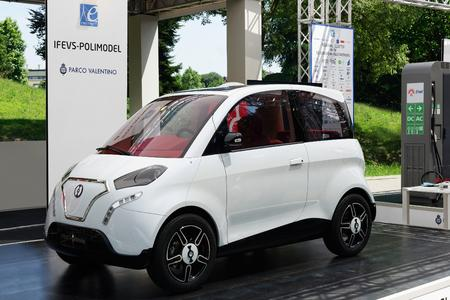 Kei Car electric vehicle prototype designed and assembled by IFEVS-Polimodel (Italy). Picture: Image: Pietro Perlo, IFEVS