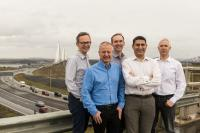 Konrad-Technologies UK - From left to right: Neil Clark, Malcolm Campbell, Robin Irwin, Nadeem Dar, David Mitchell