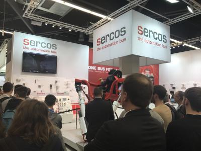 Attraktive Anwendungsfelder der Sercos Technologie ziehen Besucher an