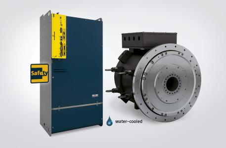 For operation of the DST2 560, several b maXX 5500 servo converters can be operated on a single motor. Both the motor and the converters are available in a water-cooled design