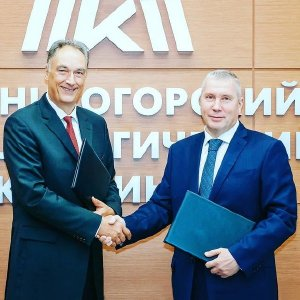 Von links: Burkhard Dahmen, CEO von SMS group und Pavel Shilyaev, CEO von MMK