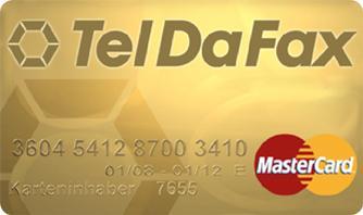 TelDaFax bringt MasterCard Gold Kreditkarte auf den Markt