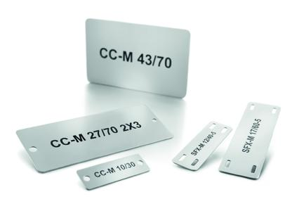 Weidmüller MetalliCard: Metal markers for the automotive industry: Seven industrial metal marker variants for Daimler, in accordance with the Integra Standard