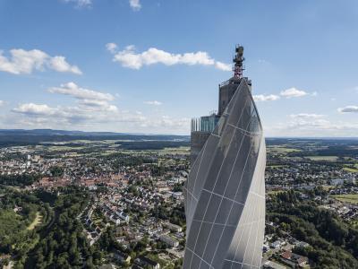 "Höchster Treppenhauslauf Westeuropas startet am 16. September im thyssenkrupp-Testturm in Rottweil / Quelle: ""thyssenkrupp Elevator"""