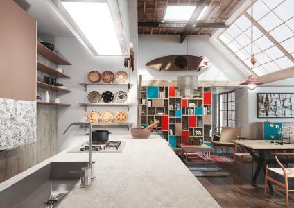 Ethno Style: Exotischer Mix in Materialien und Farben – spannendes Interieur mit Möbeldekoren der ONE WORLD COLLECTION (Bildnachweis: SWISS KRONO)