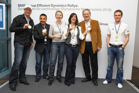 BMW Group Efficient Dynamics Rallye, Christoph Langen, Georg Hackl, Petra Behle, Katarina Witt, Münchens Oberbürgermeister Christian Ude und Alexander Resch