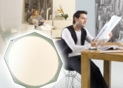Das OLED-Panel ORBEOS hat eine runde Leuchtfläche mit 80 mm Durchmesser
