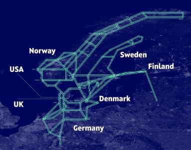 Das Glasfaser-Netz von GlobalConnect verbindet auf 74.500 Kilometern Norddeutschland und Skandinavien.