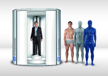 Vitronic body scanner and 3D miniature