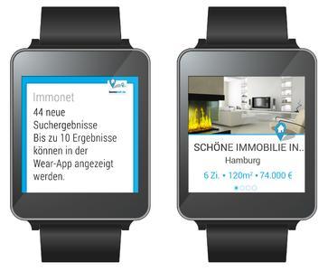 Clevere Echtzeit-Immobiliensuche auf dem Handgelenk: Immonet launcht App für Smartwatch-Betriebssystem