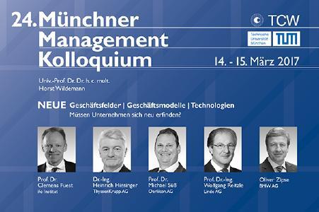 24. Münchner Management Kolloquium - Rückblick