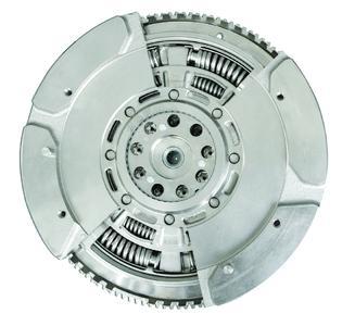 Cutaway view of a dual mass flywheel