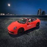 Pablo Kern im Porsche 911 einer virtuellen Bilderwelt