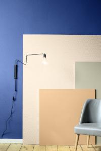 Farbwelt 1: Blickfang Terra, Blau und Khaki, Foto: Caparol Farben Lacke Bautenschutz/blitzwerk.de
