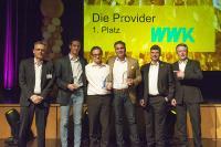 Die WWK gewann überraschend den 1. Platz als bester Provider und erhielt den BiPRO-Award 2019 vor der AXA und Janitos.