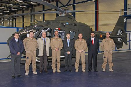 Alfonso Fernández, Director Training Center Airbus Helicopters España, Teniente Coronel Guardado, l MADOC in the CEFAMET, José Mª Laseca, Programs Director Airbus Helicopters España, Coronel Yraizoz,  Head of CEFAMET, Francisco  Vergé, CEO  Airbus Helicopters España, General de Brigada Javier Sancho Xifre, Head of FAMET, José María Rubio, Head of Communication and Political Relations Airbus Helicopters España, Teniente Coronel Puerto, Head of Studies CEFAMET