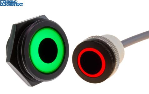 RGB-LED ring lights Ø 30 and 22 mm from Signal-Construct